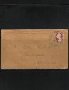 Scott #11A VF on cover. SCV - $190.00