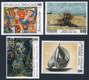 France 2038-2041,MNH. Art 1987.Bram van Velde,E.Boudin,C.Bryen,A.Pevsner.