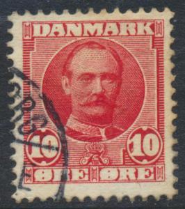 Denmark Scott 73 (AFA 55), 10ø red Frederik VII, F-VF Used