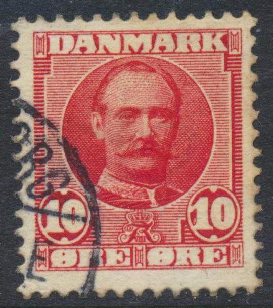 Denmark Scott 73 (AFA 55), 10ø red Frederik VII, F-VF Used