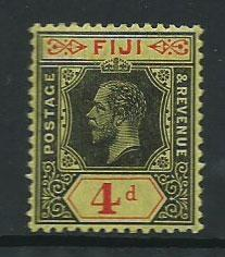 Fiji  GV  SG 131  MH black and red yellow.