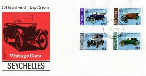 1985 Seychelles Vintage Cars First Day Cover