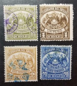 CHILE Telegraph Used MH Stamp Lot T136