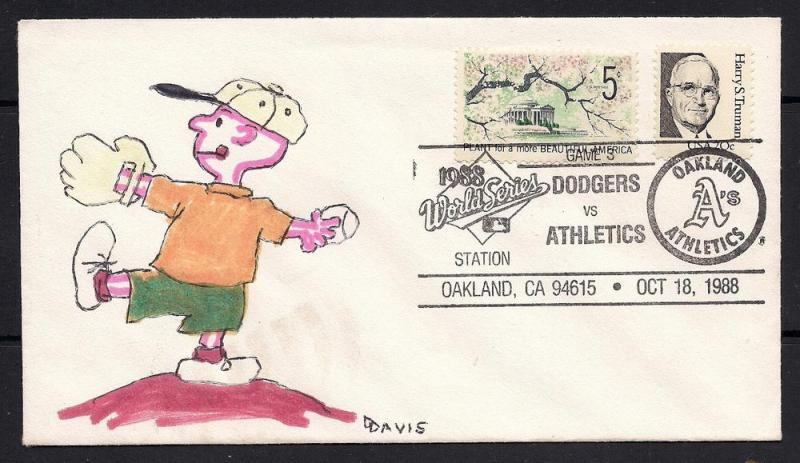 Charlie Brown Hand Paited Cover - World Series