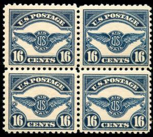 momen: US Stamps #C5 Mint OG NH Block of 4 VF
