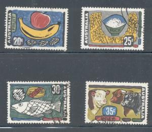 Australia Sc 519-22 1971 Food stamp set used