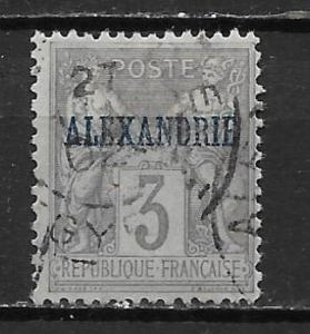 France Offices in Egypt - Alexandria 3 3c Commerece single Used