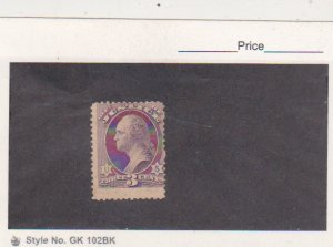 1873 US Stamps Scott # O27 3c Justice Department Official Mint NG Cat.$110.0
