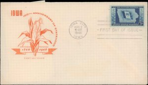 United States, Iowa, First Day Cover