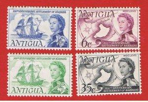 Antigua #195-198  MVFLH OG  Barbuda    Free S/H
