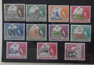 Basutoland 1954 - 58 set to 10s LMM SG43 - 53