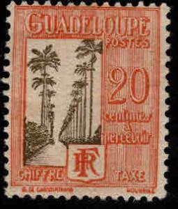 GUADELOUPE Scott J30 Postage due stamp typical centering