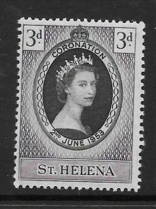 ST.HELENA SG152 1953 CORONATION MNH