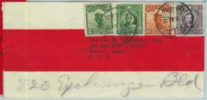 BK0456 -  CHINA -  POSTAL HISTORY - MIXED FRANKING on COVER to USA  1933