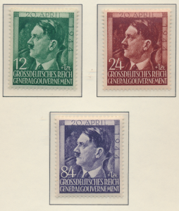 Poland, German Occupation Stamps Scott #NB33-40, Mint NH, 1943-4 Semi-Postals...
