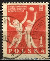 Poland; 1955: Sc. # 702: O/Used Single Stamp