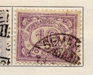 Dutch Indies 1922-29 Early Issue Fine Used 10c. 099236