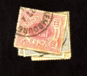 LUXEMBOURG #18-22 USED F-VF SM THINS Cat $39