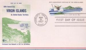 UXC6 6c VIRGIN ISLANDS AIR MAIL CARD - Cover Craft