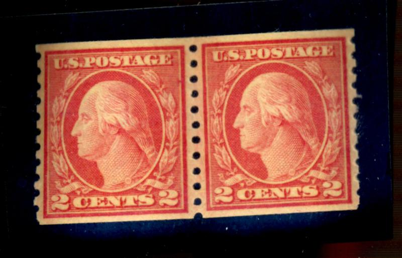 454 MINT Pair VF-XF OG NH Cat$360