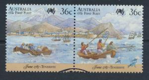 Australia SG 1064a se-tenant pair Used PO Bureau Cancel