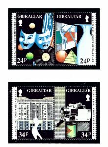 Gibraltar 627a and 629a MNH 1993 Europa