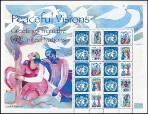 UN New York stamp Greetings stamps complete sheet MNH 2007 Mi 1065 WS243873