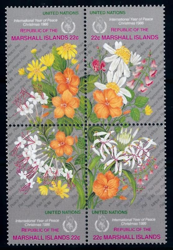 [64786] Marshall Islands 1986 Flora Flowers Blumen Christmas  MLH