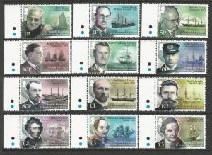 South Georgia 2015 MNH Ships Scientists and Explorers Definitive Set of Stamps