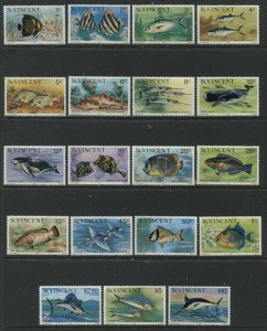 St. Lucia 1975 definitive set unmounted mint NH