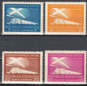 Dominican Republic, Sc O22-O25, MNH, 1939, Proposed Lighthouse