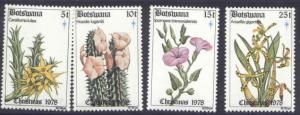 Botswana 221-4 MNH Christmas, Flowers