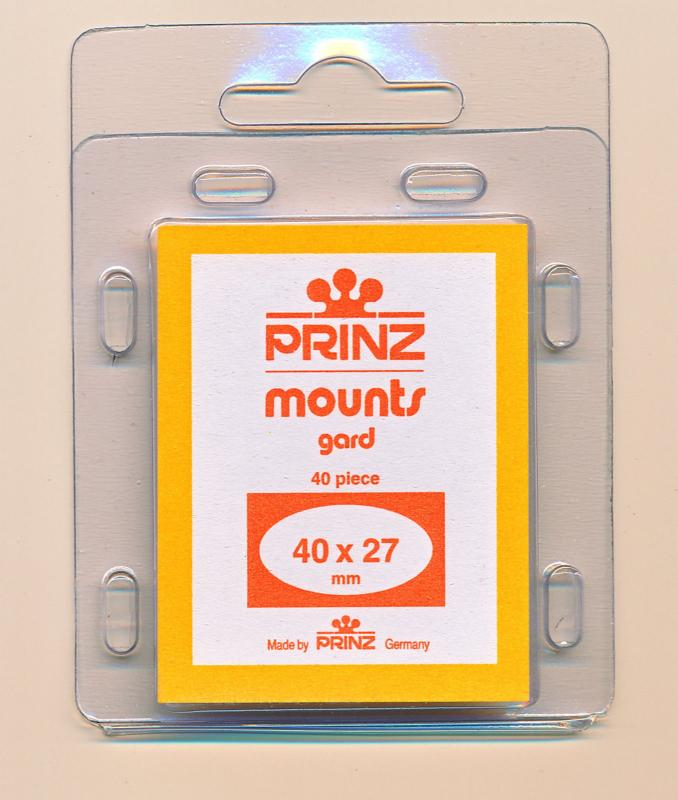 Prinz Scott Stamp Mounts Size 40 x 27 CLEAR Pack of 40