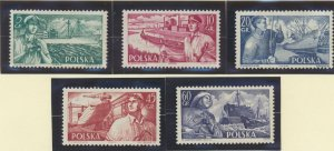Poland Stamps Scott #719 To 723, Mint Never Hinged - Free U.S. Shipping, Free...