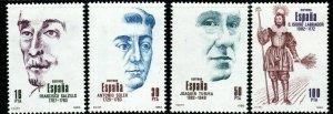 SPAIN SG2721/4 1983 SPANISH CELEBRITIES MNH