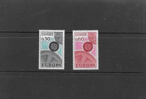 ANDORRA 1967 EUROPA U/MINT