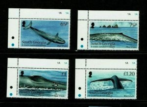 South Georgia: 2012 Blue Whale,  MNH set