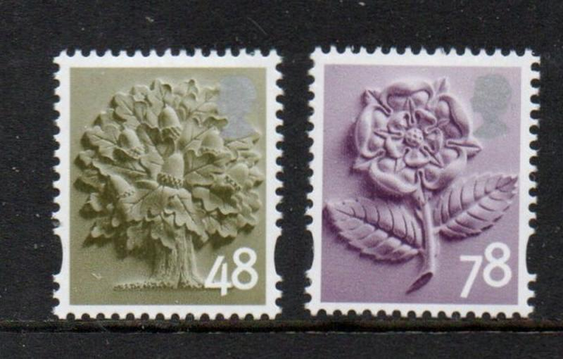 Great Britain England Sc 14-15 2007 48p tree 78p rose stamp set mint NH