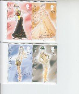 1997 Gibraltar Dior Fashions by John Galliano (Scott 735-38) MNH