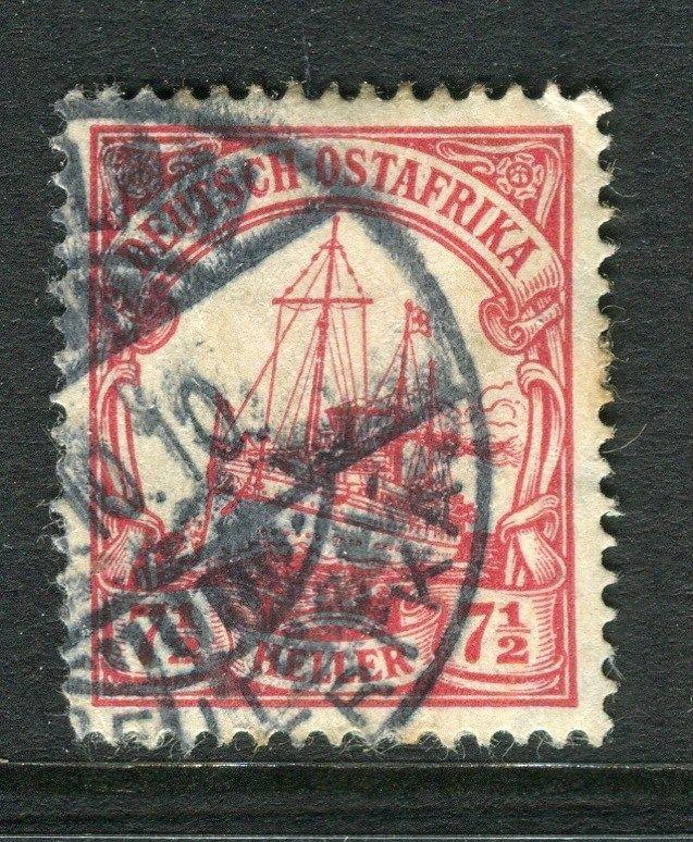 GERMAN EAST AFRICA;  1906 early Wmk. issue fine used 7.5h. value