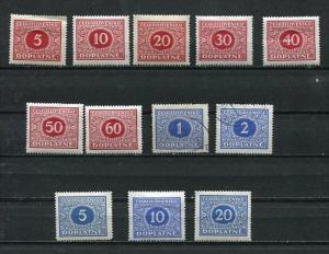 Czechoslovakia 1919-0 Mi 1-14 Sc J1-14 MNH/MH (2 Stamps Are Used) Doplata CV ...