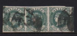 Spain #60 Used Strip Of Three