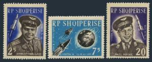Albania 654-656,MNH.Michel 727-729. Space flight 1962.Vostok 3-4.Cosmonauts.1963