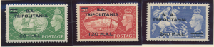 Great Britain, Offices In Africa, Tripolitania Stamp Scott #32-4, Mint Hinged...