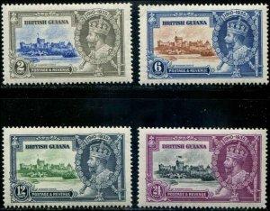 British Guiana SC# 223-6 KGV Silver Annif set MVLH