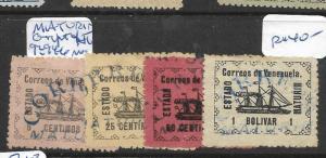 VENEZUELA GUYANA STATE MATURIN (P1604B)  Y&T 92, 94-6  MOG
