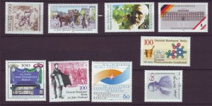 J24370 JLstamps 1990 germany berlin year set mnh #9n584-92