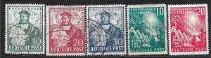 COLLECTION LOT OF 5 GERMANY 1949 STAMPS CV = $51