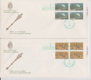 CANADA FDC FROM HOUSE OF COMMONS STAMPS #853-854 LOT#M122