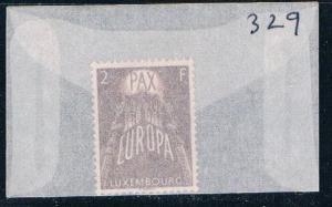 Luxembourg 329 Unused United Europe 1957 (L0305)